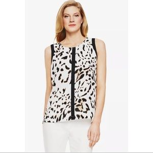 Vince Camuto Sleeveless Blouse Animal Print Large